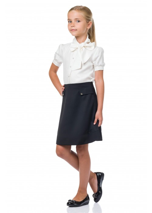 Skirt school with flaps blue