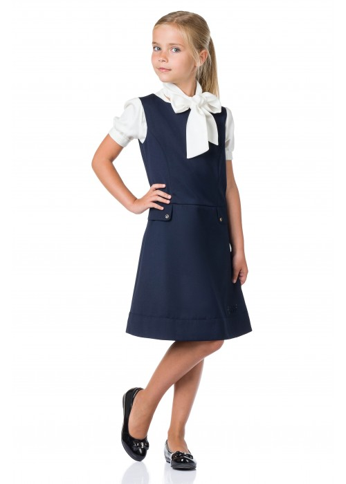 Sundress school with flaps blue
