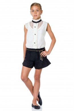 Jumpsuit white-black