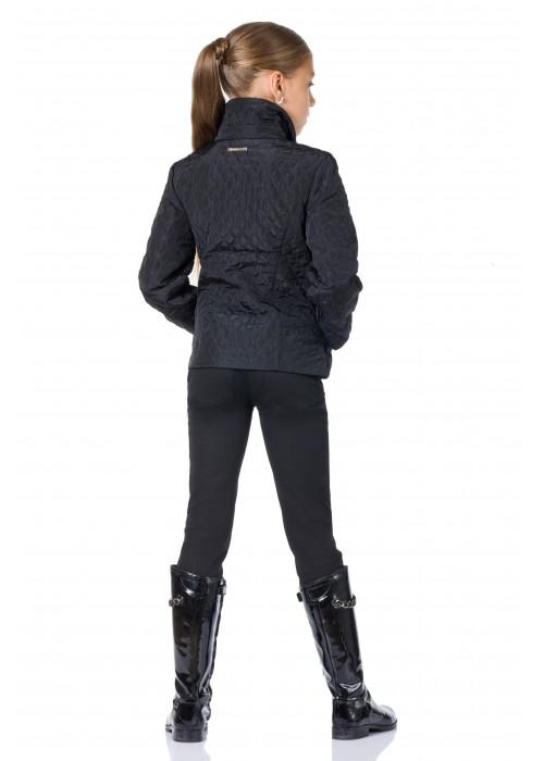 """Куртка """"Валетта""""длинная на молнии черная"""