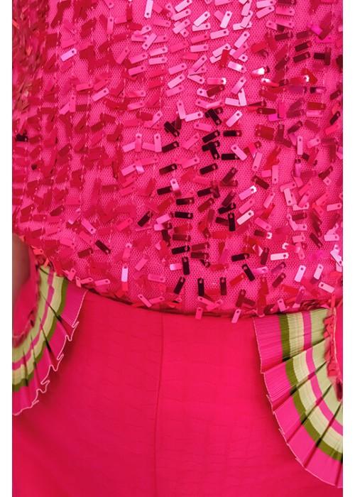 Pink sequin shirt