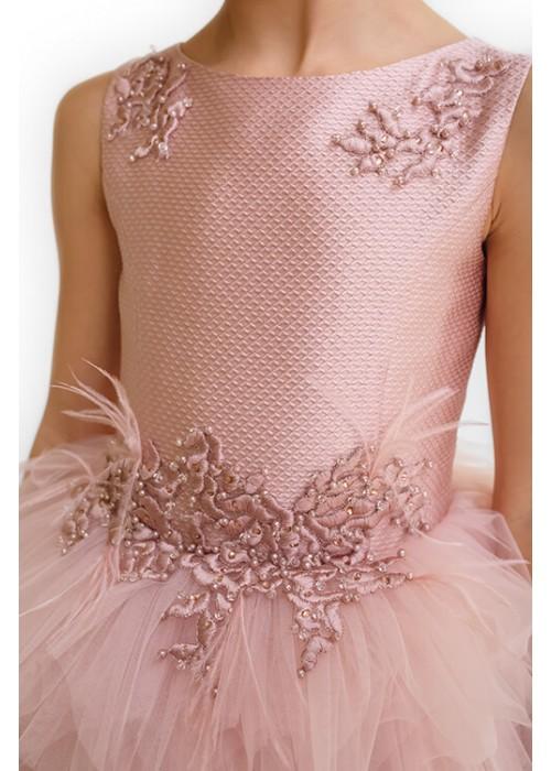 """Плаття """"Жозефіна"""" коротке рожеве ЗШ-551014 """"Золотий шик"""""""