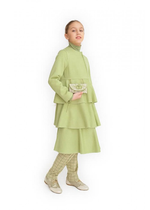 Пальто Версаль зеленое