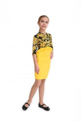 """Skirt """"Ylanga"""" yellow"""