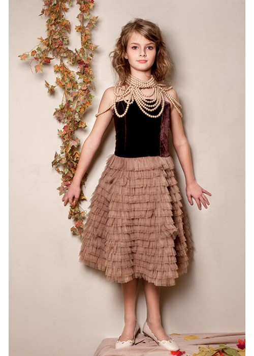 "Dress ""Evening Star"" chocolate"