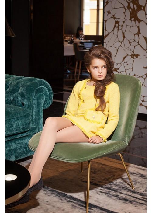 "Платье ""CHANEL"" с рукавами желтое S-2027 ""Success"""