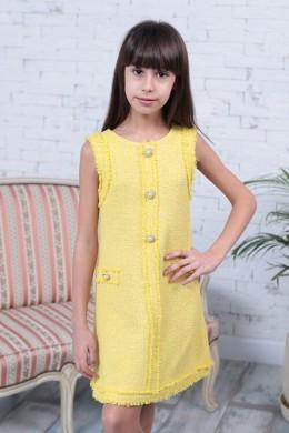 Платье CHANEL желтое