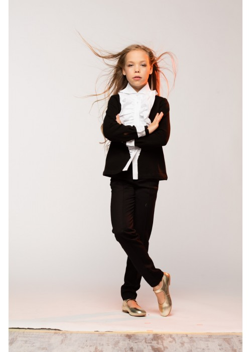 Pants school with pockets black