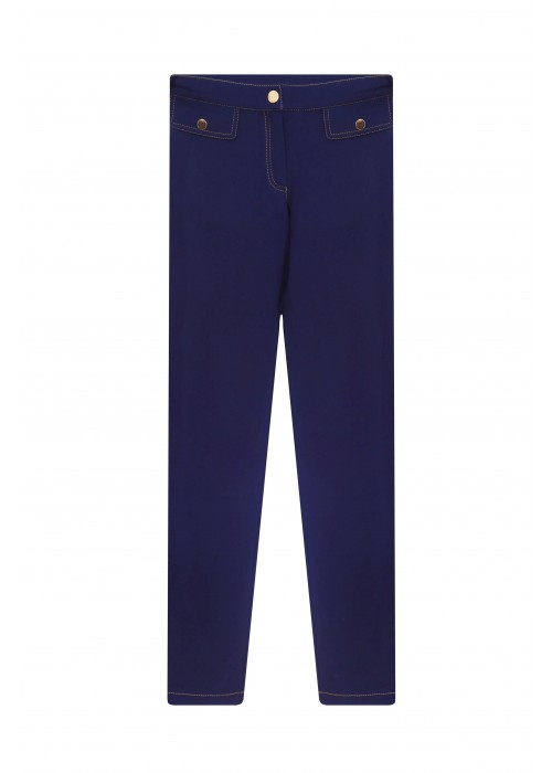 Pants school knitwear blue-purple