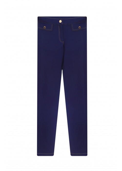 Pants school knitwear blue-purple