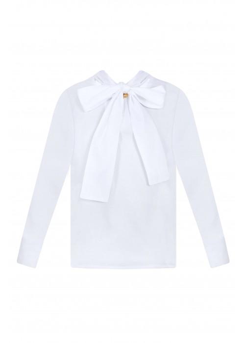 Блуза с бантом белая