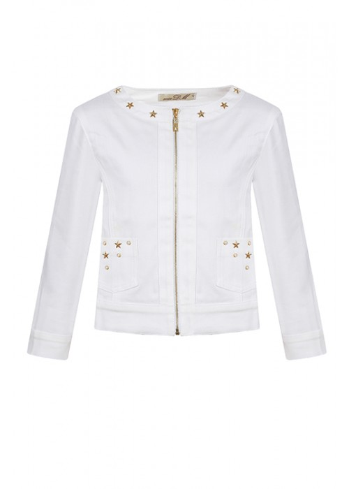 Куртка джинсовая белый ИК-1659 Итальянские каникулы