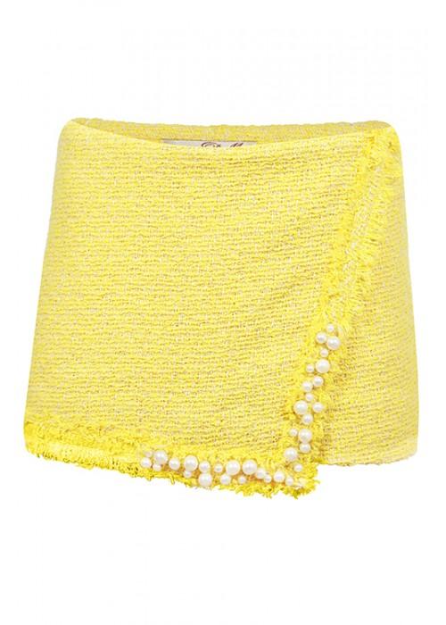 Шорты - юбка желтые