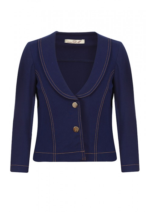 Jacket school knitwear blue-violet