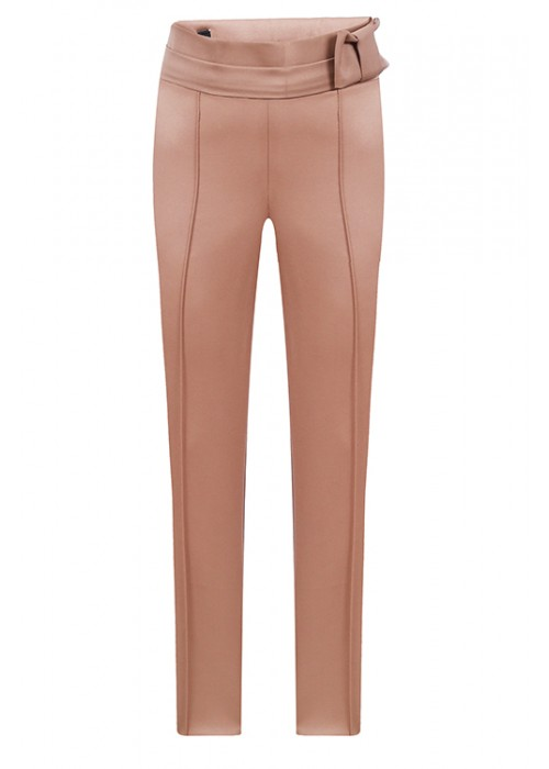 "Trousers ""Prague"" with a bow mustard"