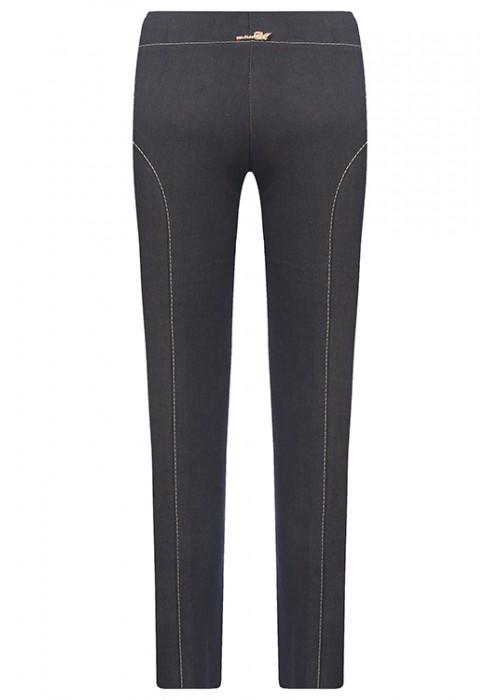 Брюки джинсовые со строчкой темные