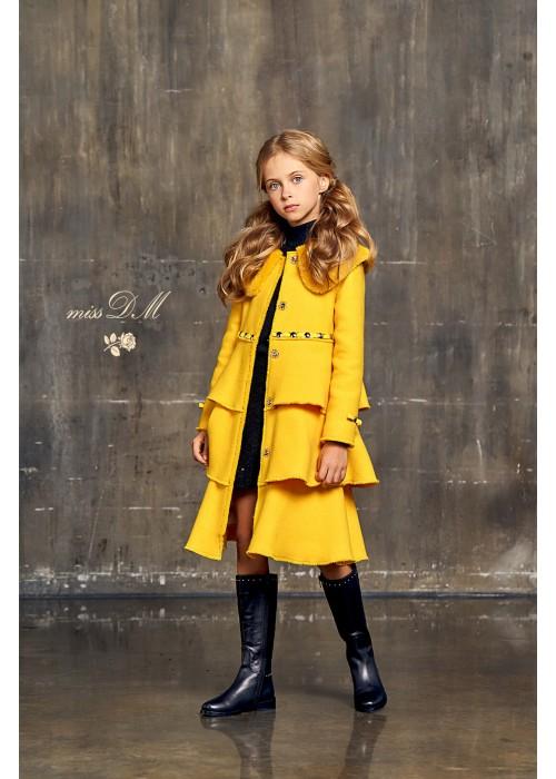 """Пальто """"Версаль"""" желтое"""