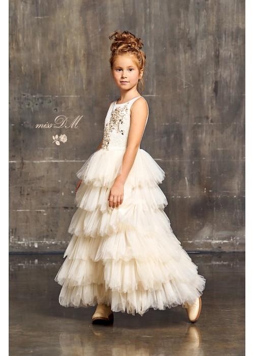 """Платье """"Адель"""" длинное золотое"""