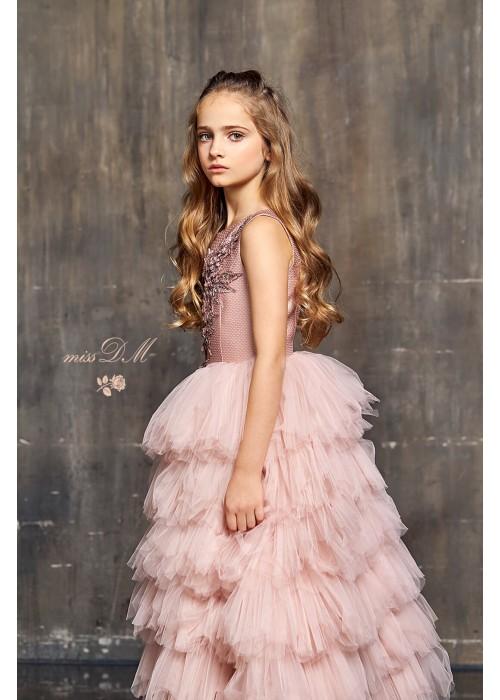 "Плаття ""Жасмин"" довге рожеве ЗШ-551012 ""Золотий шик"""