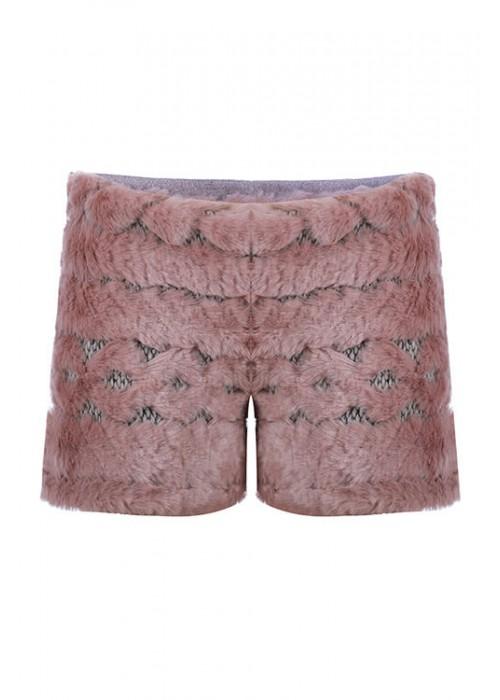 """Shorts """"Fur"""" pink powder"""