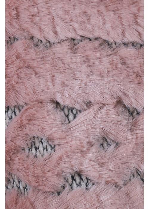 Шорты Мех розовая пудра