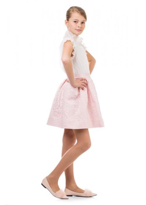 """Блуза """" Анабель"""" белая МЛ-2066 Маленькая леди"""