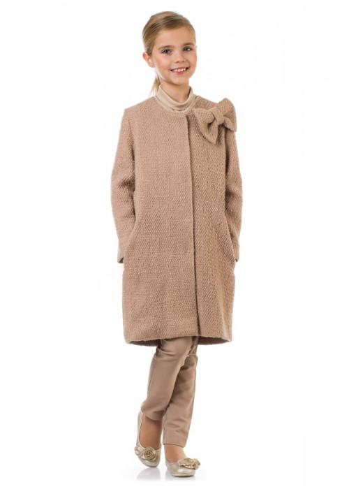 Пальто с бантом телесное ФС-1621 Флорентийская сказка