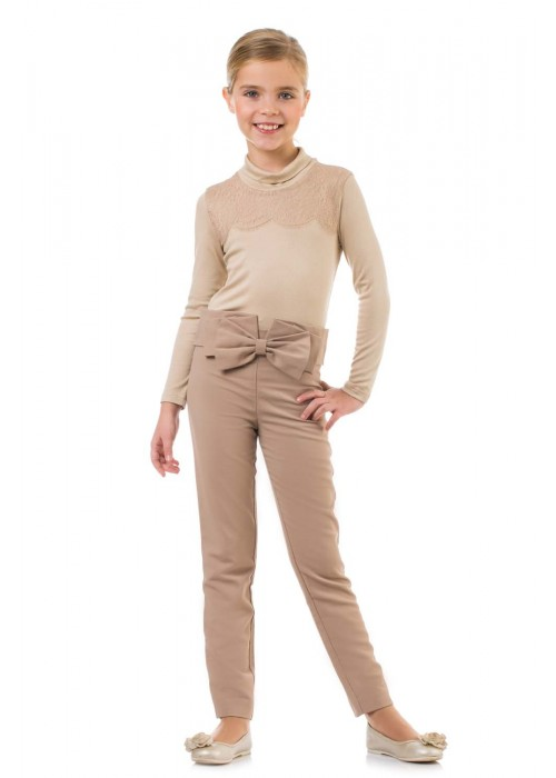 Body trousers with a bow