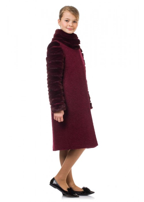 "Coat ""Harmony"" burgundy"