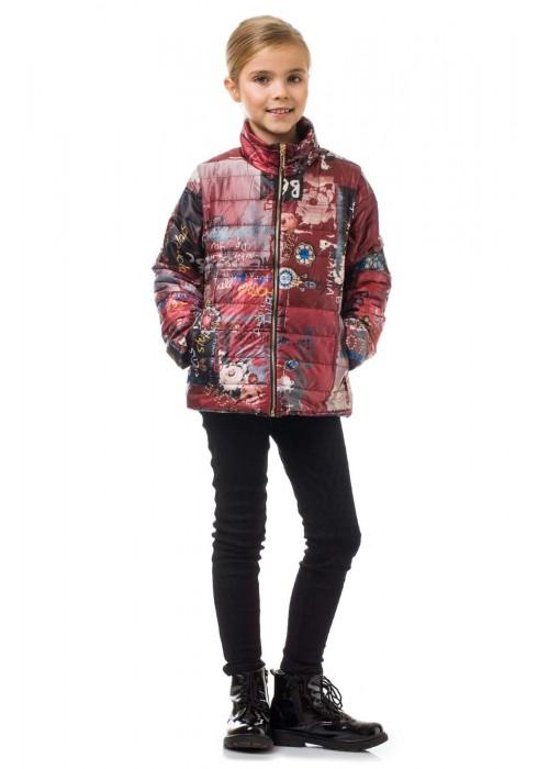 Куртка жилетка бордовая