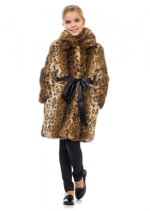 Fur coat Lynx color