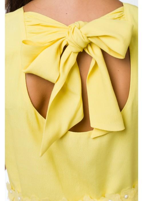"""Платье """"Dance"""" желтое ВК-2028 Взрыв красок"""