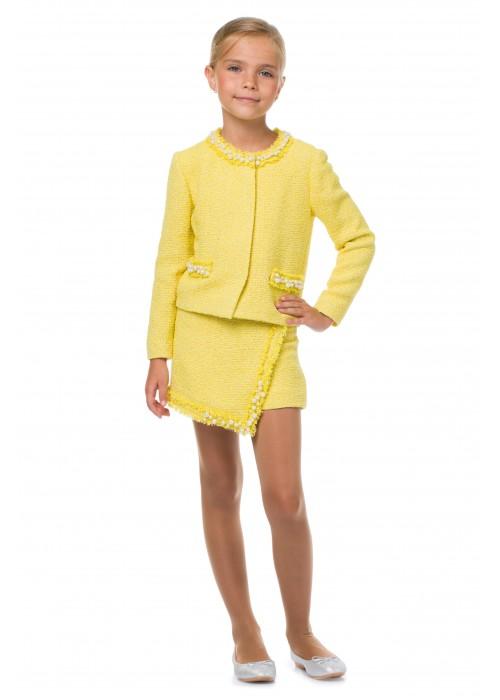 Шорты-юбка желтые