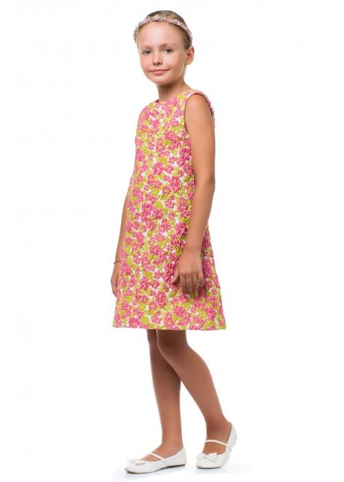 """Платье """"Marry""""  3Д розовое ВК-2025 Взрыв красок"""