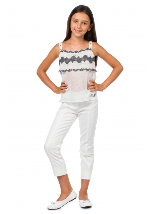Капри джинсовые белые