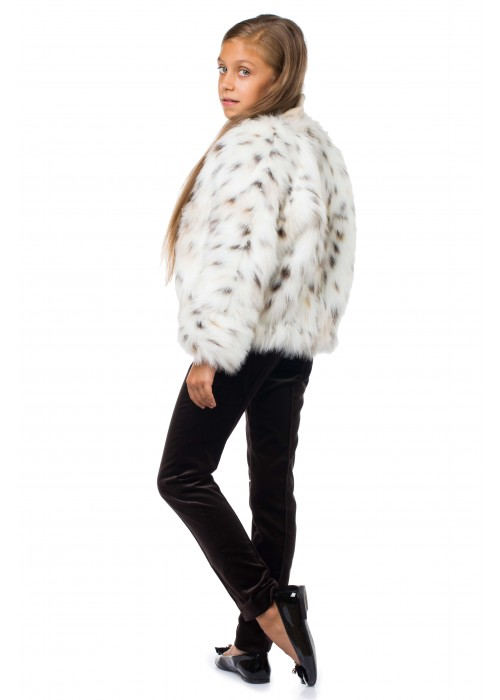Short fur coat Lynx