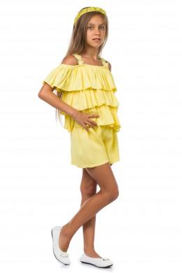 Yellow ruffle jumpsuit