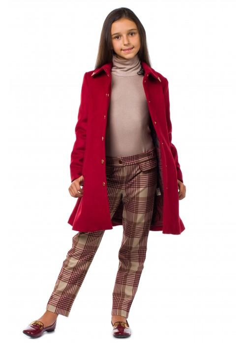 """Пальто """"Бристоль"""" красное"""