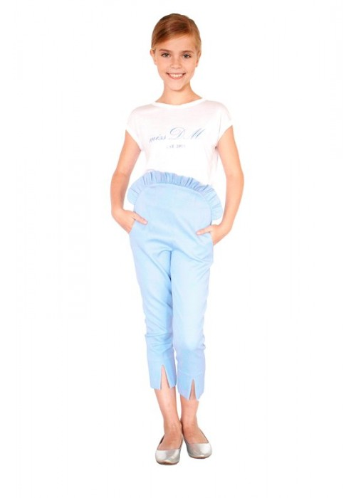 White DM Miss Blue T-shirt