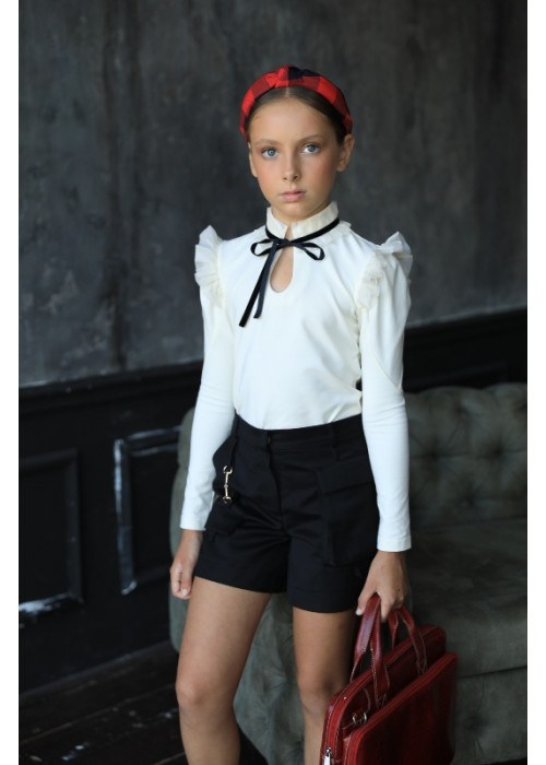 "Shorts ""Caramel"" with decor black"