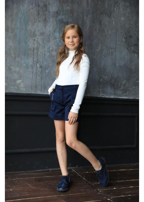 "Shorts ""Caramel"" with decor blue"