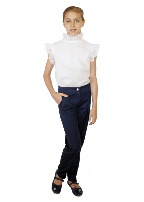 Pants school with pockets blue
