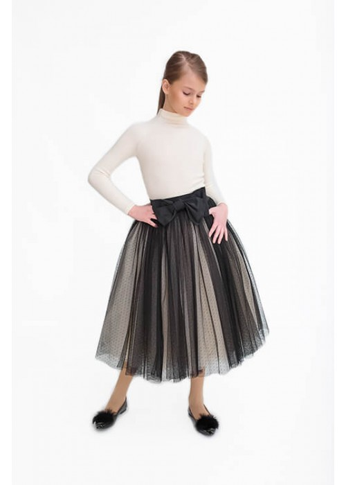 "Skirt tutu ""Floria"" in a dot black"