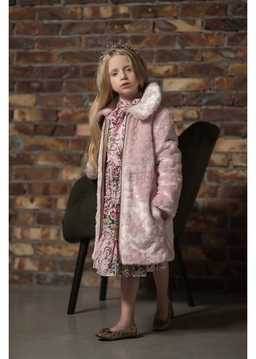 """Fur coat """"Alenka"""" pink"""