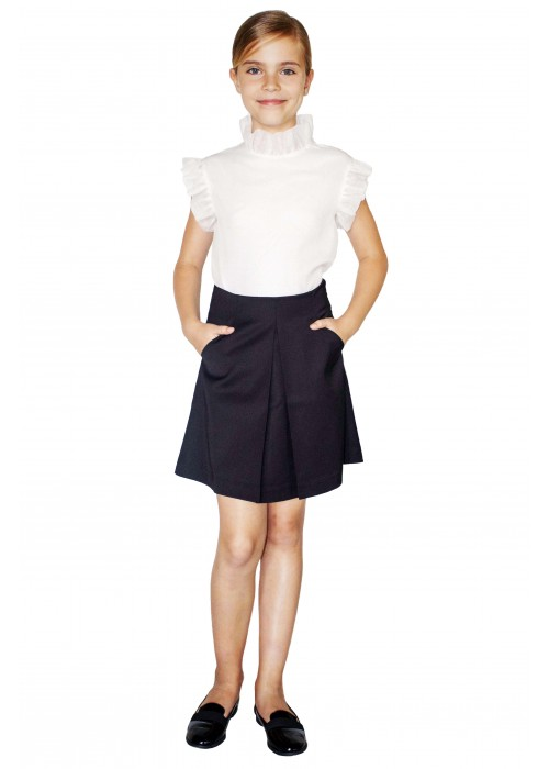 Black pleated school skirt