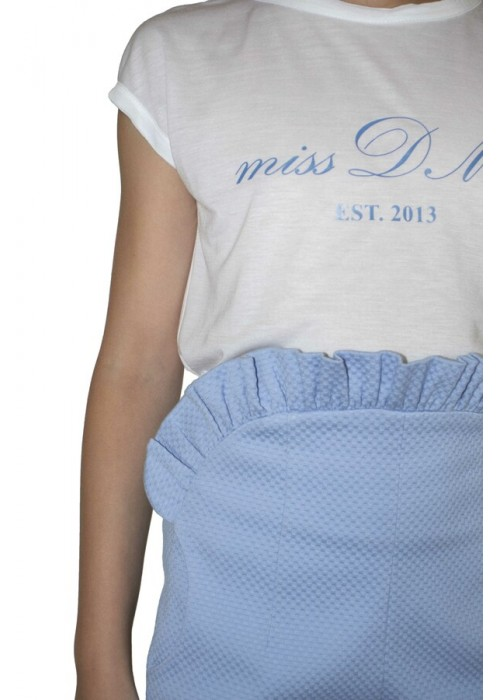 White DM Miss Blue T-shirt
