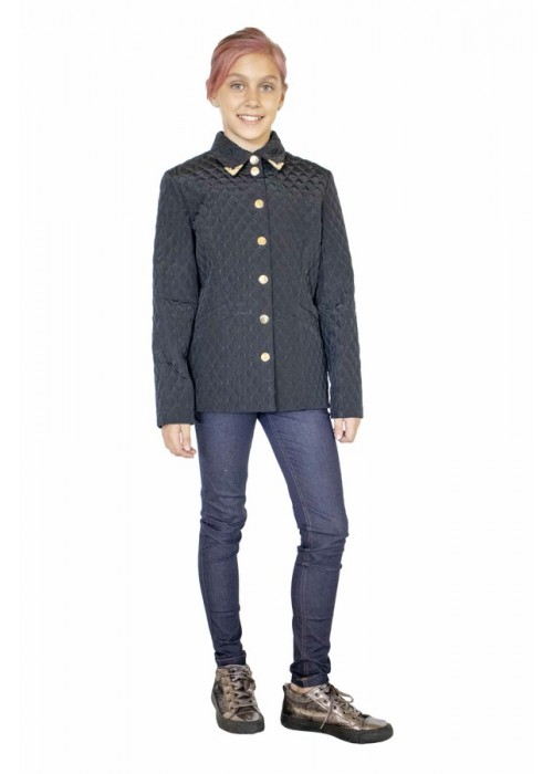 "Jacket ""Milan"" long on buttons black"