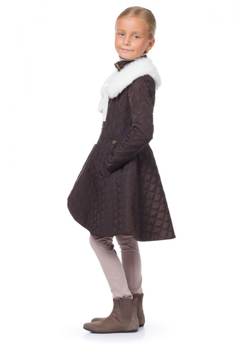 Chocolate jacket with detachable collar