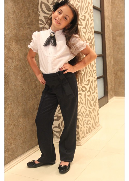 Pants with bow black