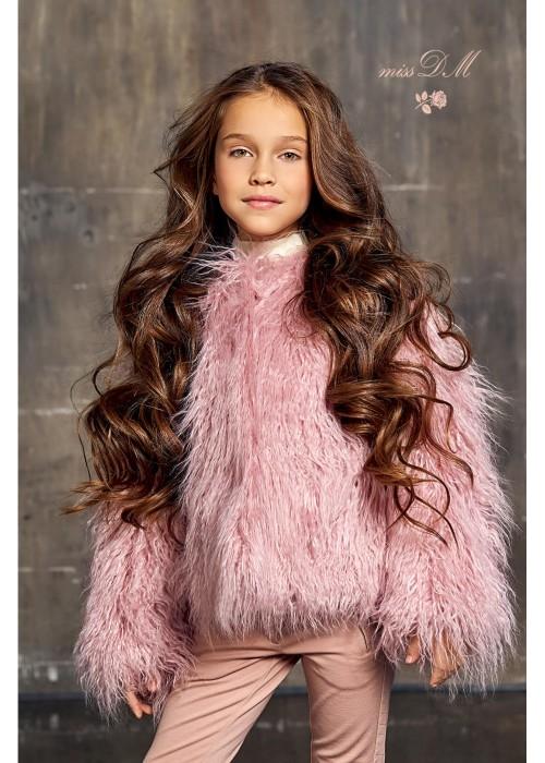 """Fur coat """"Lama"""" pink"""